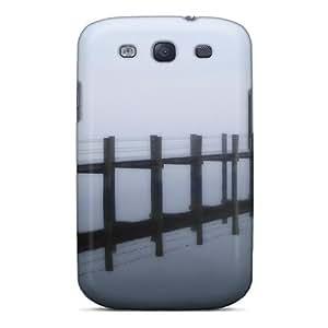Galaxy S3 Foggy Early Morning Sea Pier Print High Quality Tpu Gel Frame Case Cover