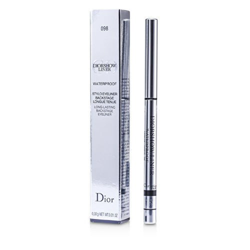 Christian Dior Diorshow Waterproof Long-Lasting Backstage Eyeliner for Women, 098 Carbon, 0.01 Ounce
