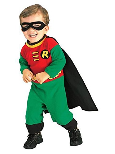 Teen Titans Robin Romper Costume, Infant (6-12 Months) ()