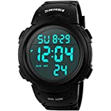 Skmei 1068 Men Sport Digital Watch Outdoor Black Waterproof 50M Alarm Large Number Backlight Fashion Design