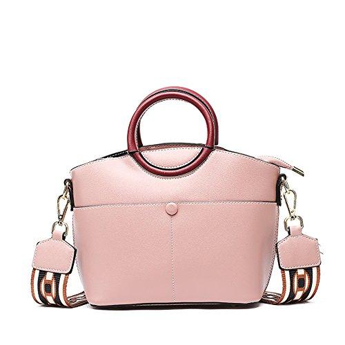 golpean Wild la Personalidad Mensajero de Handbag Primavera FangYOU1314 y Color Color Bolsa PU Verano del del Marrón Hombro la Rosado del Ladies La q4Cfxan0