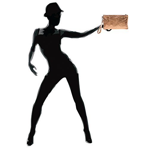 Caspar Rosé En Cuir Or Femme Pour Clutch Tl717 0gqfPwr0