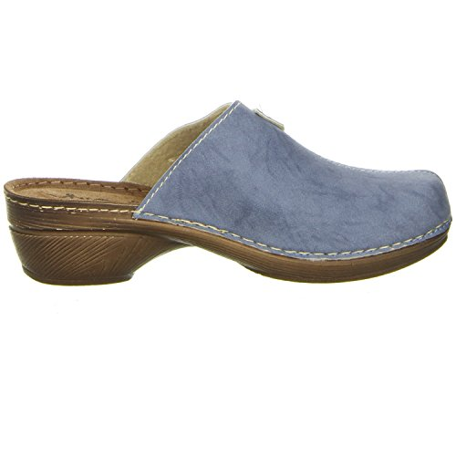 Vista Damen Clogs Blau Blau