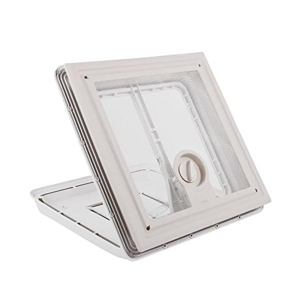41sPdhVjNdL Fiamma Dachfenster Vent 40x40 cm Weiß + Dekalin Dichmittel + Schrauben für Wohnwagen oder Wohnmobil