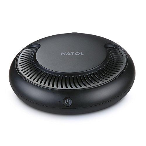 NATOL Car Air Purifier Ionizer with HEPA Filter, Car Air Freshener Cleaner to Remove Smoke Allergens Pollen Dust Mold Pet Dander Bad Odors Formaldehyde and Harmful Gases
