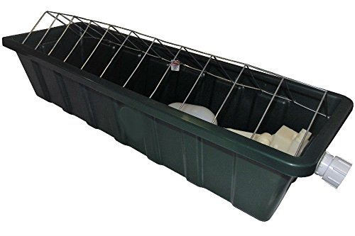 24 INCH LONG AUTOMATIC CHICKEN WATERER TROUGH POULTRY DRINKER by Unknown