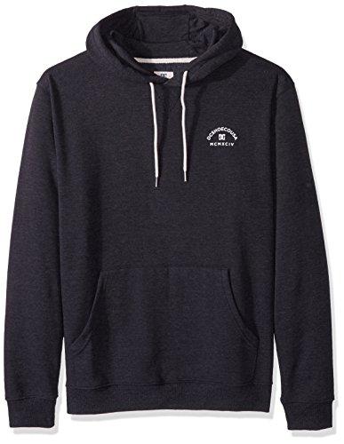 DC Men's Rebel Pullover Hoodie 3 Sweatshirt, Black, M