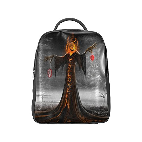 [Navarro Halloween October 31 Jack O Lantern Unisex School High-grade PU Leather Backpack Bag Shoulder] (Monster High Dia De Los Muertos)