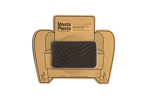(MastaPlasta Self-Adhesive Patch for Leather and Vinyl Repair, U.S. Flag, Dark Brown - 4 x 2.4 Inch - Multiple Colors Available)