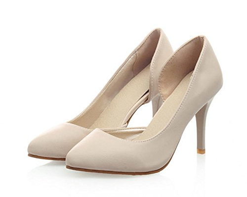 Aisun D Pointed Pumps orsay Simple Beige Heels Slip Toe On High Stiletto Elegant Shoes Dress Womens tqrOPt