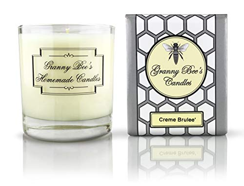 Creme Brule Soy Candle - Granny Bee's Candles - Creme Brulee, 11 oz - Premium Scented Candle Hand Poured in USA for Relaxation, Therapy, Holidays or Gifts