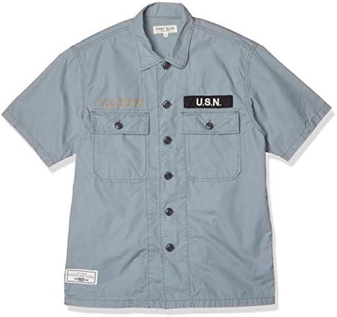 半袖シャツ TB SSN-571 WORK SHIRTS 6105099 メンズ 84 BLUE 日本 L (日本サイズL相当)