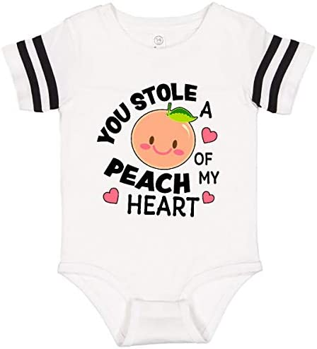 inktastic You Stole a Peach of My Heart with Cute Peach Long Sleeve Creeper