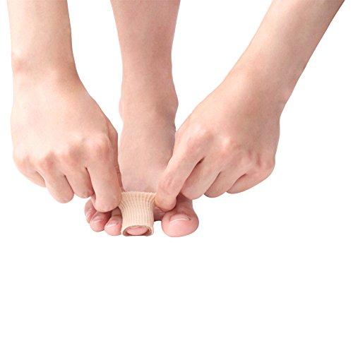 footinsole Toe Protectors Heels -Gel Toe Tube - Fabric Sleeve Protectors 2PCS (1.5cm X 15cm)