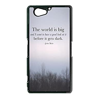 Sony Xperia Z2 Compact Z2 Mini Phone Case Travel Quotes The World Is