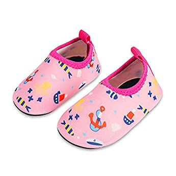 Lauwodun Baby Boys Girls Water Shoes Barefoot Aqua Sock Shoes