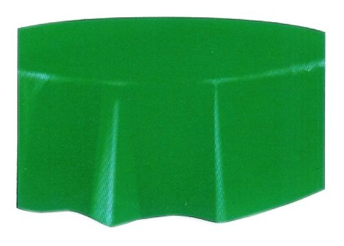 Round Green Plastic Tablecloth, 84