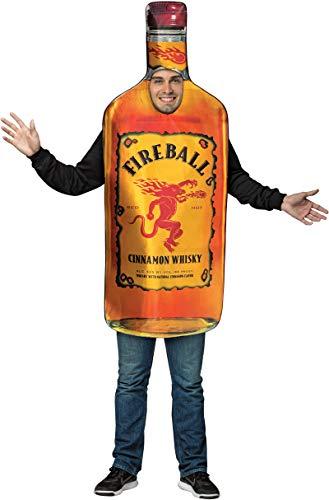 Mens Halloween Costume- Fireball - Get Real Bottle Adult Costume