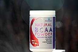 Natural BCAA Powder. Great Tasting Cherry-Lime Flavor. 40 Servings. Sweetened with Stevia, Erythritol, and Monk Fruit. Made by Women For Women.