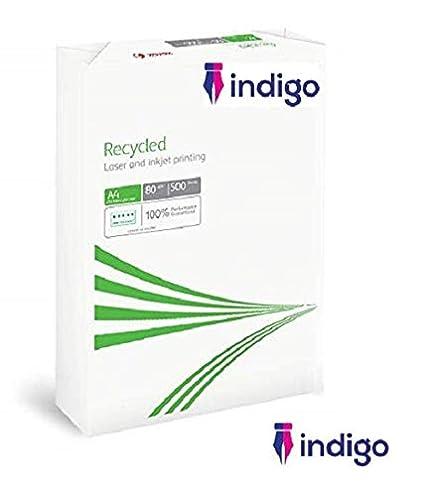 Indigo - Papel reciclado para impresora láser multifunción (1 ...
