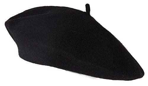 TopHeadwear Wool Blend French Bohemian Beret, Black