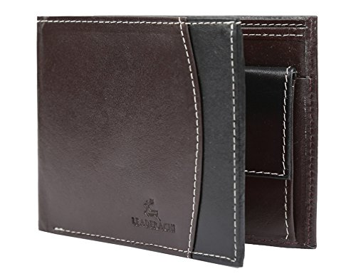 "Leaderachi – 100% Pure Genuine Real Leather Handmade Men Wallet [""WINNIPEG"" (BROWN)]"