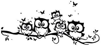EmmiJules Wandtattoo Eule Tiere für Kinderzimmer Baum Ast ...