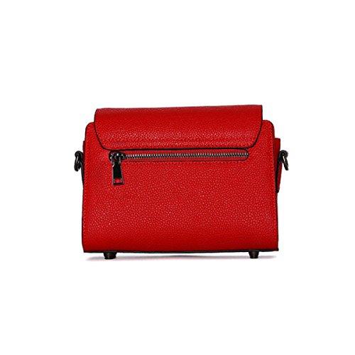 Sauvage Red à Petit Lychee Bandoulière Mode Motif Femmes Paquet Cercle Boucle Sac Carré n66w0B7Wq