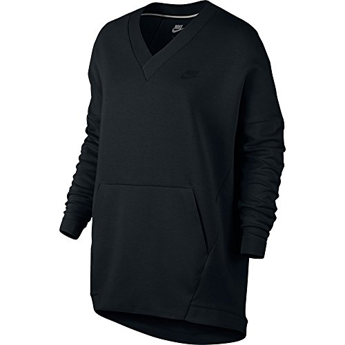 Nike Sportswear Tech Fleece Women's V-Neck Sweatshirt Black 803583-010 (Size XS) ()