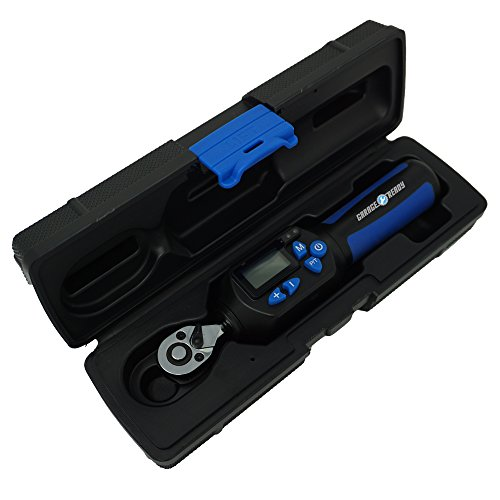 Garage Ready Digital Torque Wrench - (4 to 22 ft-lbs) (48-264 in-lbs) (5 to 30 Nm) +/- 2% Accuracy with Limit Buzzer & LED Flash Notification and Peak Trace Tracking (1/4-Inch Drive)