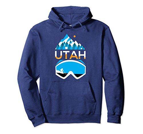 Utah Ski Snowboard (Unisex Utah hoodie - ski & snowboard clothing Small Navy)
