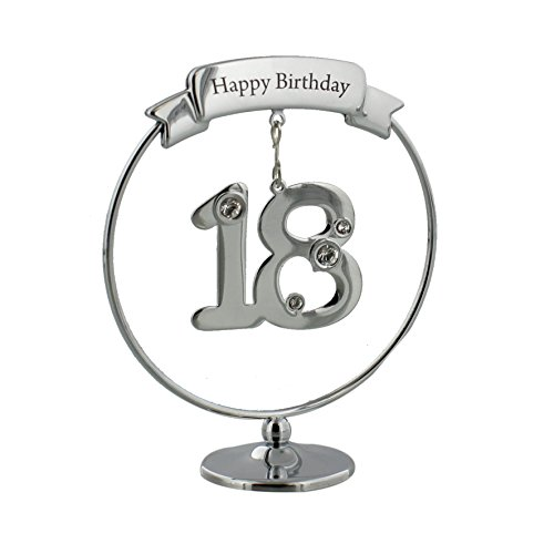 - Oaktree Gifts Happy Birthday 18th Freestand Ornament