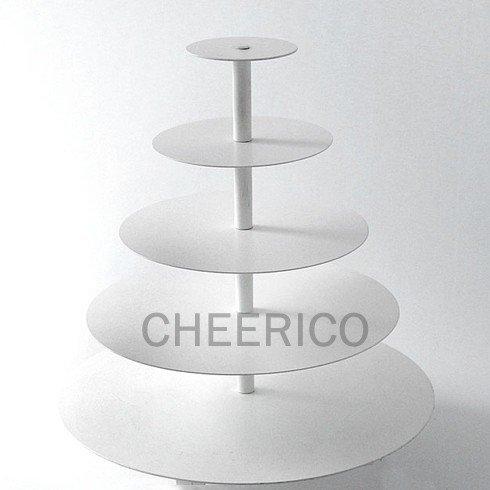 CHEERICO 5 Tier White Maypole Round Wedding Acrylic Cupca...