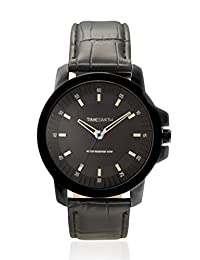 TimeSmith Limited Edition Black Dial Black Genuine Leather Watch for Men TSM-077