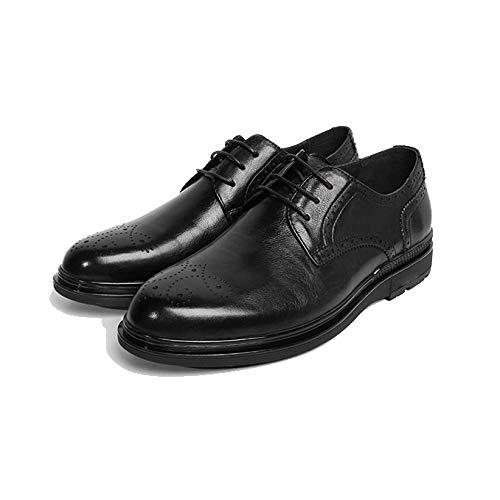 da Inglese Stringate Indossare Black Casual Business NIUMT Confortevole Scarpe Brock Stile Traspirante nwTO8nq7xI