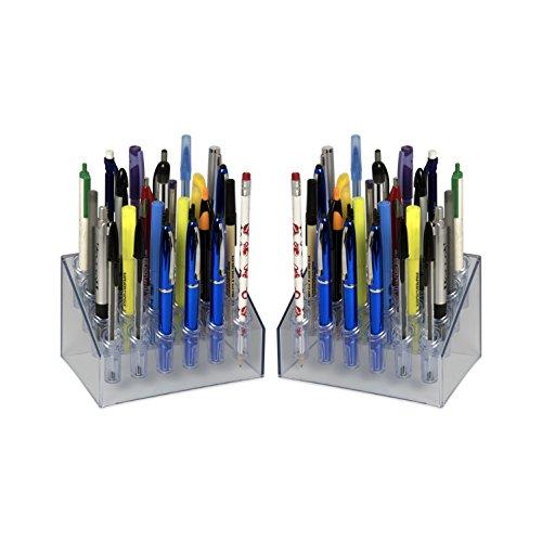 Adir Acrylic 24 Pen Vertical Premium Display Stand - Pack of (Acrylic Pen Stands)