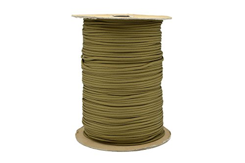 Paracord Rope 550 Type III Paracord - Parachute Cord - 550lb Tensile Strength - 100% Nylon - Made In The USA (Coyote Brown, 50 Feet) by Paracord Rope (Image #2)