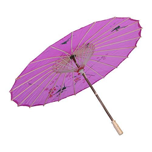 SUPVOX Silk Parasol Umbrella Decorative Oilpaper Umbrella Dancing Wedding Decoration (Diameter 40cm) ()
