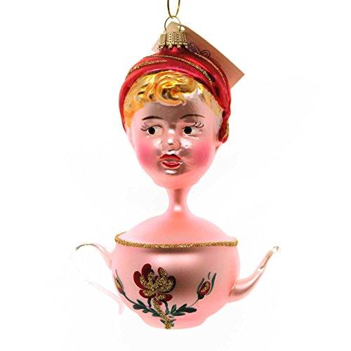 Larry Fraga TEA FOR TWO Glass Dresden Ornament Shring ()