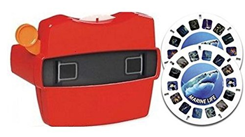 View-Master Red Classic Viewer with 2 Reels 3D Discovery Kids Marine Life Toy by View Master (Image #1)