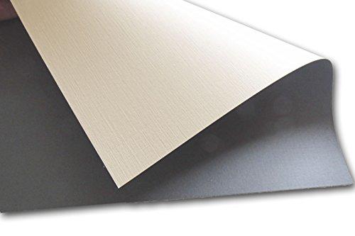 Neenah Classic Linen Duplex Charcoal - Natural White 8.5x11 - 25 Pk (Neenah Classic Linen Natural)