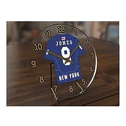 Daniel Jones 8 New York Giants Desktop Clock - National Football League Legends Edition !! Blue