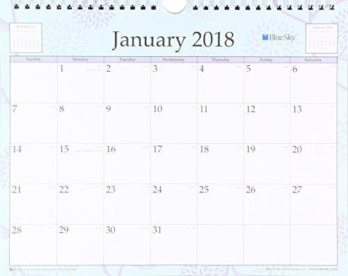 Blue Sky 2018 Wall Calendar, Twin-Wire Binding, 11