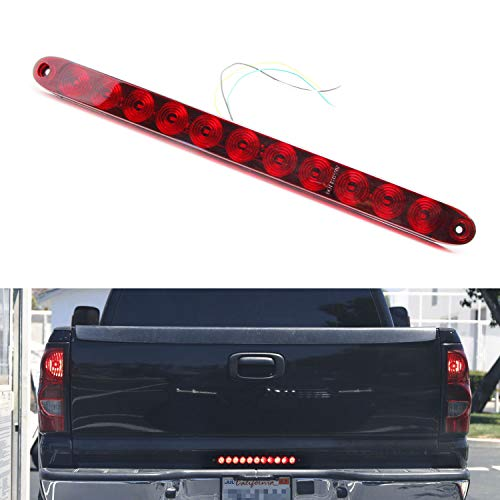iJDMTOY 15-Inch Truck Tailgate Red LED Running Light Bar For Chevrolet Dodge Ford GMC Nissan Toyota etc, Functions as Tail Light, Brake Lamp & Turn Signal Lights