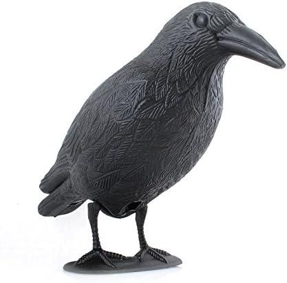 Siehe Beschreibung Gartendekoration Rabe 40 cm aus Kunststoff als Tauben oder Vogelschreck /• Taubenschreck Kr/ähe Gartenfigur Taubenabwehr