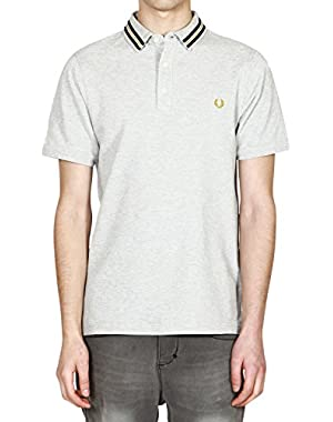Men's Sports Tape Pique Polo Shirt