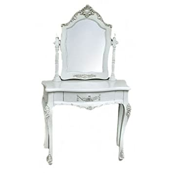 Four Seasons Beautiful French Antique White Ornate Dressing Table