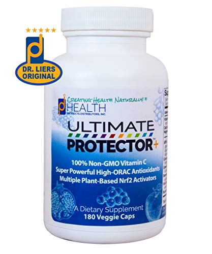 Ultimate Protector+ - A High-ORAC Nrf2 Activator Antioxidant Supplement | Multiple Plant-Based Nrf2 Activators | Super Powerful High-ORAC Antioxidants | 100% Non-GMO Vitamin C