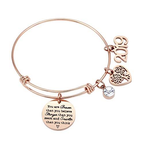 ivyAnan Jewellery Inspirational Gift for Women Girls 2019 Graduation Jewelry Bracelet Engraved You are Braver That You Believe - Graduation Jewelry Gift