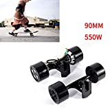 GDAE10 90mm Dual 6364 Hub Motors Drive Kit Electric Skateboard Longboard Part 550w Black (US Stock)